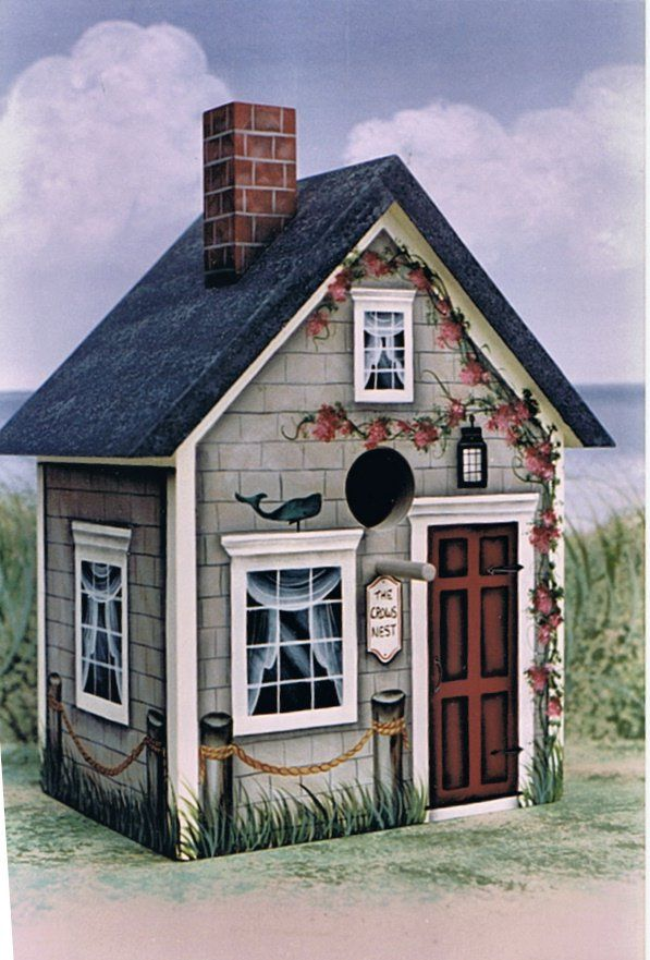 tole painted birdhouses - Google Search