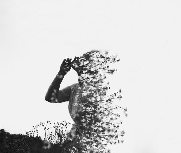 Alexandra Cameron fotografia preto e branco dupla exposição pessoas silhuetas