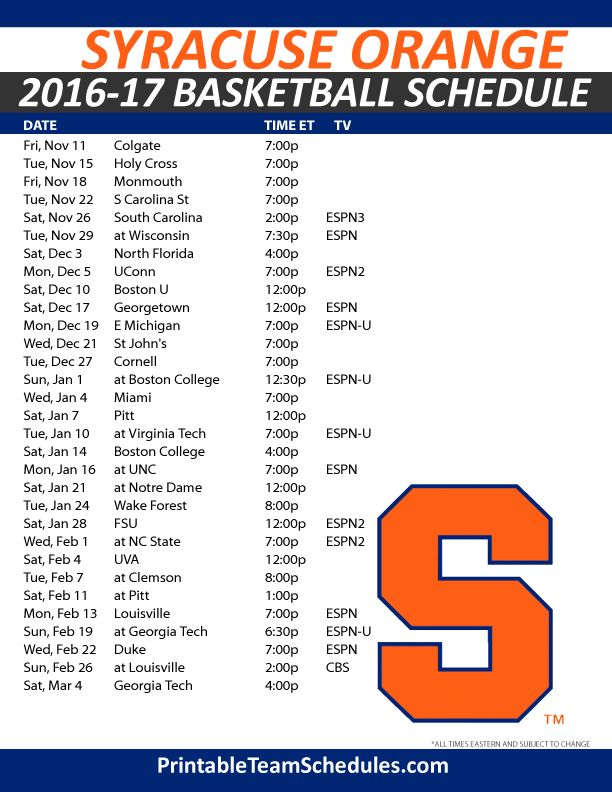 17 Best Ideas About Syracuse Basketball Schedule On