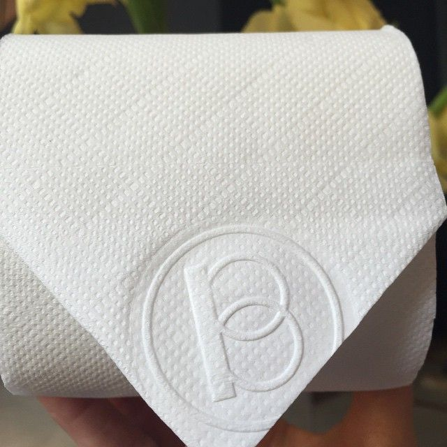 Logostamping every toilet paper has been an obsession from day 1. #hotelbrummell #brummelldetail #hotel #barcelona