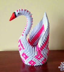 12 Best 3D Origami Driving Swan Assembly Images On Pinterest