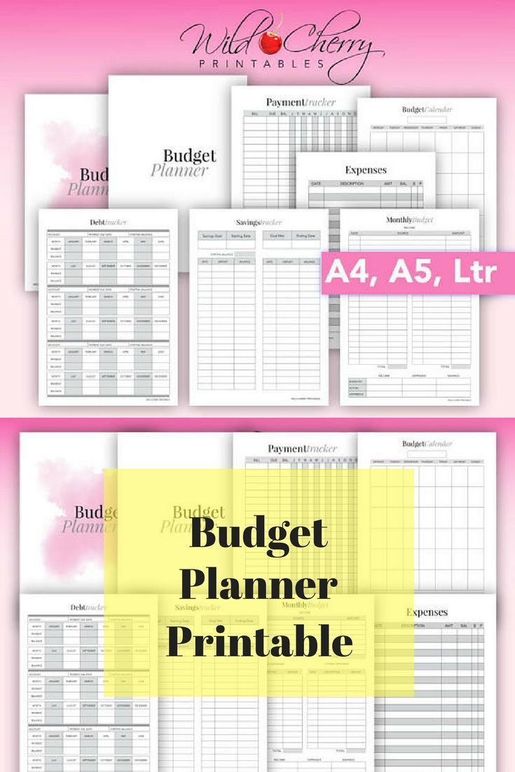 finance planner budget planner printable savings tracker debt