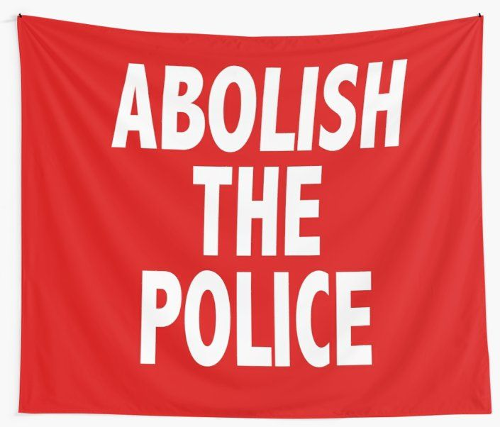 Abolish The Police Wall Tapestry By Hlm91 Redbubble Wall Tapestry Tapestry Design Textile Prints