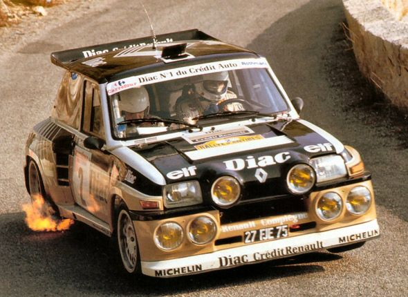 Renault's Group B rally car - the mid-engined Renault 5 Turbo having a 1.4ltr 8V engine. RaceDemand Motorsport Classifieds ""