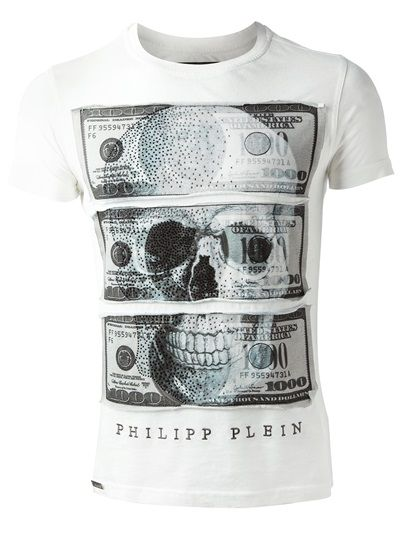 philipp plein t shirt camiseta branca designers. Black Bedroom Furniture Sets. Home Design Ideas