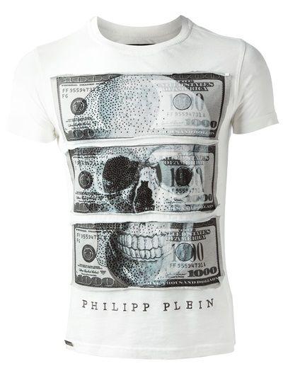"""Philipp Plein - T-Shirt """"Camiseta Branca"""""""