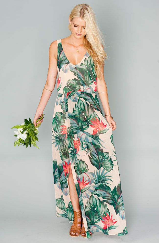 The new show me your mumu bridesmaid dress collection for Hawaiian dresses for weddings