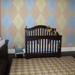 Argyle & houndstooth nursery