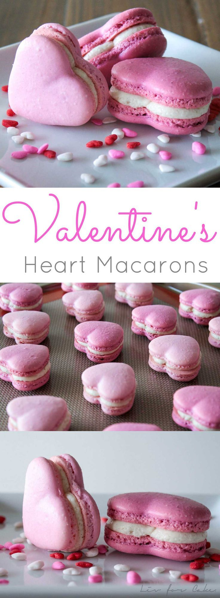 These adorable cinnamon spiced heart macarons are the perfect way to celebrate Valentine's Day. | http://livforcake.com
