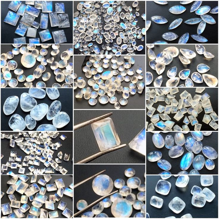 Beautiful blue flash rainbow moonstone cabochons and cut stones in all shapes and sizes. Convo us for bezel and drill options. Shop these beauties only on Gemsforjewels - Flat 60% off on all items. Last few hours left to avail the massive savings!