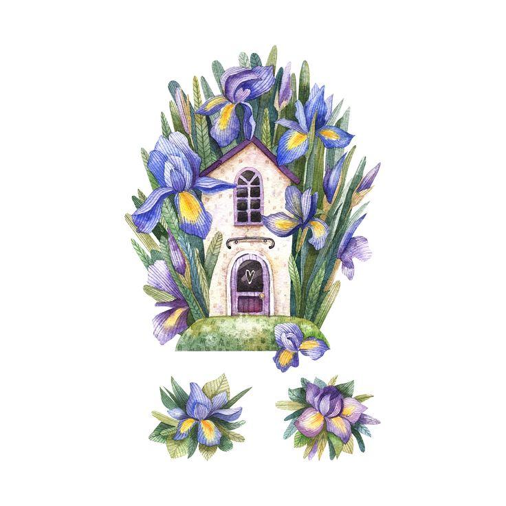 Я конечно сообщила вам в stories что ничего интересного сегодня не рисую, но картинку все же покажу! Вчера нарисовала Вторая из серии про дома и цветы  Угадайте, какому цветку место на третье картинке?)