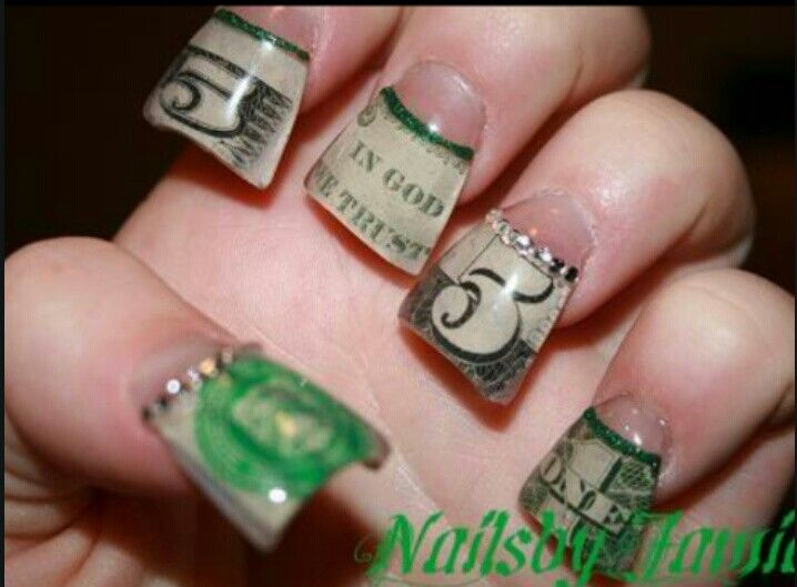 21 best dollar bill nails images on pinterest nail designs money money money nails prinsesfo Gallery