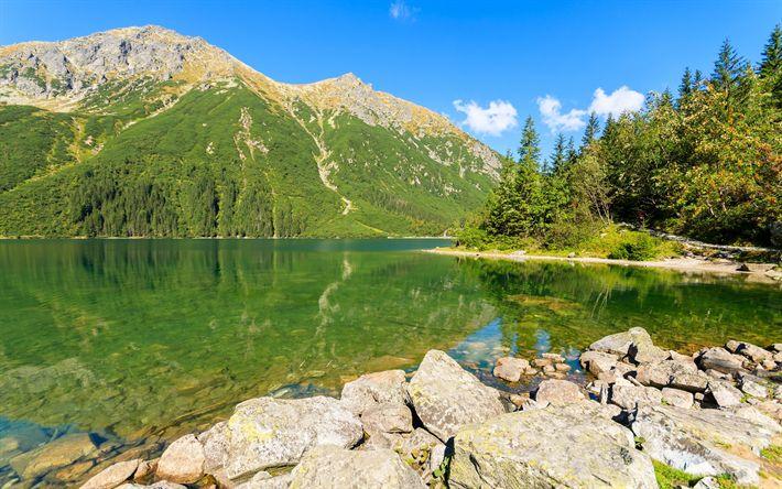 Download imagens Montanhas, verão, Montanhas Tatra, lago de montanha, Polónia, Cárpatos