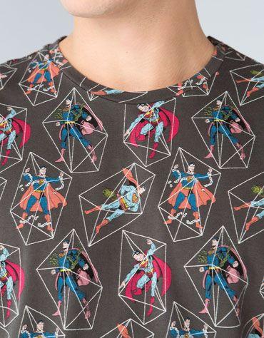 Bershka United Kingdom - Superman print T-shirt
