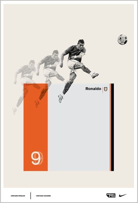 Cristiano Ronaldo poster for Nike's All for One Event. Great retro design. #football #soccer