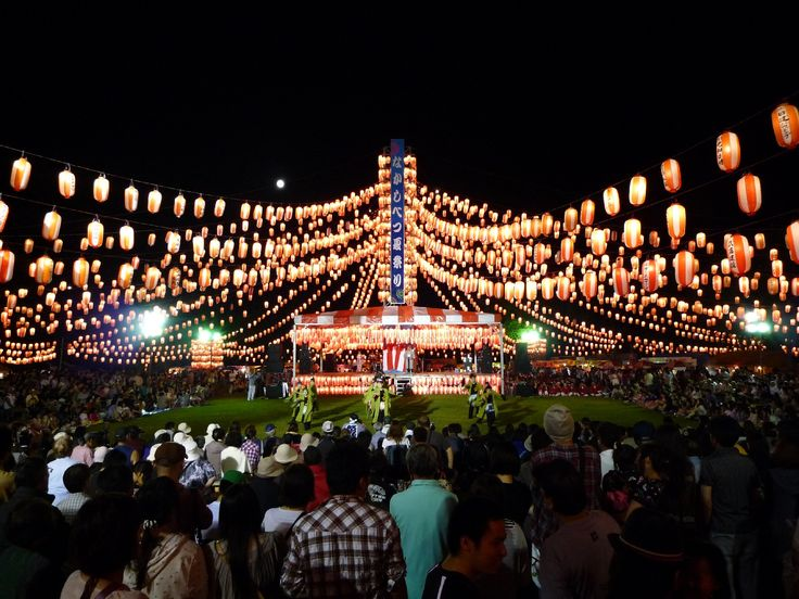 "Japanese traditional Summer festival ""BON ODORI """