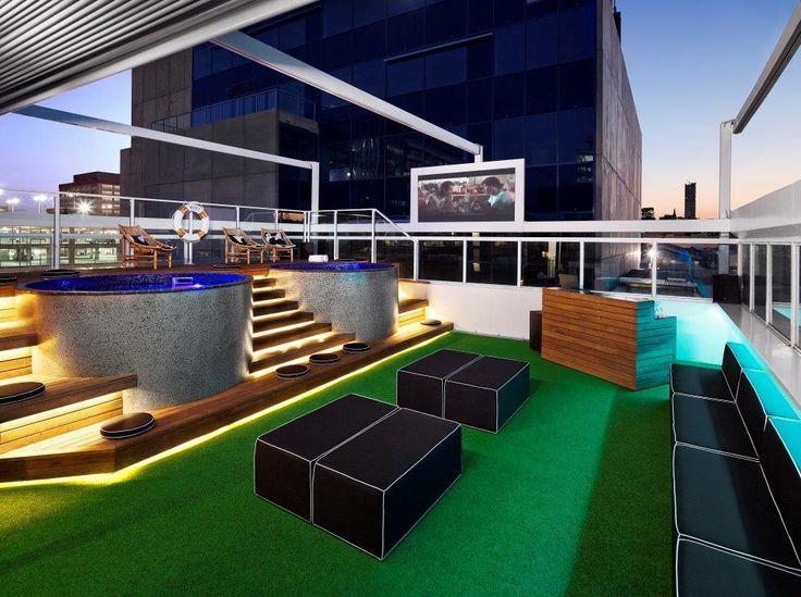 Limes Hotel Brisbane x2 rooftop Australian Plunge Pools