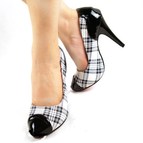 Great Office Plaid Tartan Shoes