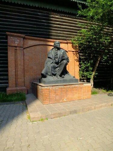 Lenin Museum, Krasnoyarsk, Siberia. Lenin spent two days here on way to exile in Shushenskoye.