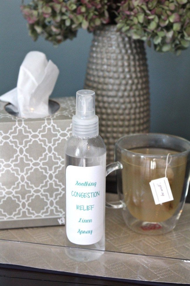 Congestion relief pillow spray - this got me through my horrible fall cold!