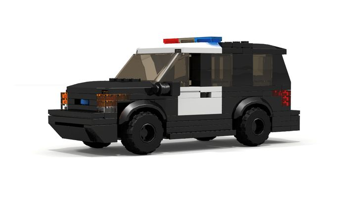 Instructions on how to build custom LEGO City Ford Explorer Police Interceptor 4x4 SUV. This model is great addition to your LEGO City Police Station