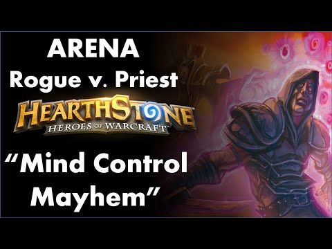 """(Deviant Gaming Presents) Mind Control Tech Value! Woo-hoo! Aww. We got a 1-drop. (Hearthstone: Heroes of Warcraft   Arenas   Episode 2) Silver Hand Regent: """"Be purged!"""" So that's a 2-0. (Mind Control Mayhem) (Deviant Gaming) Hearthstone Rogue Arena with HSDae, June 14, 2016...."""