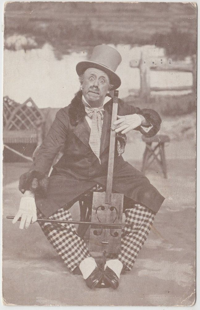 GAIETY THEATRE - W H Berry in  Poppy  - Musical Comedy - 1925 used postcard
