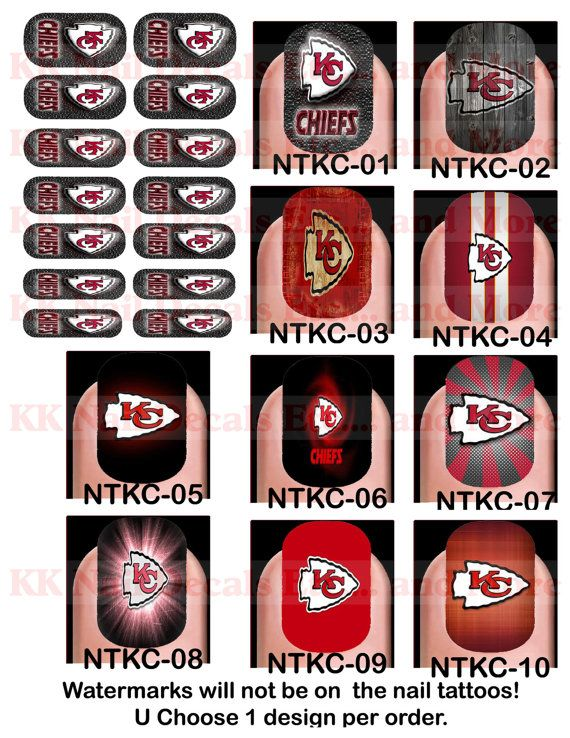 28 best Chiefs nails images on Pinterest | Chiefs game, Kansas city ...