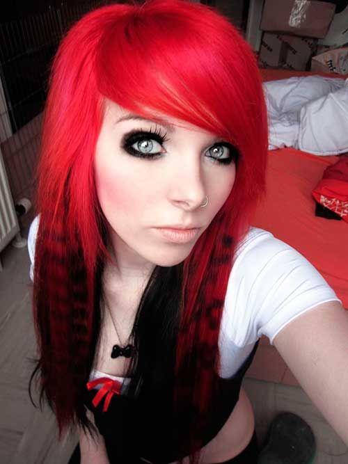 cabelo emo feminino