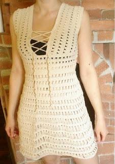 "Cossalina - Crochet Bikini, Handmade Crochet Bikinis, Unique Swimwear by Alinutza Fashion: Crocheted Dress - Jennifer Aniston in ""Just Go with It"" - FINISHED!"