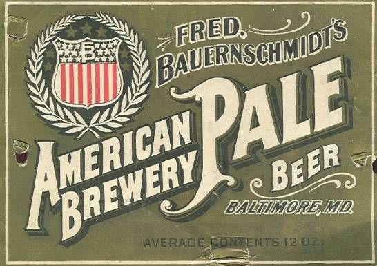 Beer 116 Baltimore FredBauernschmidtsAmericanBreweryBeer Label Showcase of Over 45 Inspirational Beer Logos and Labels