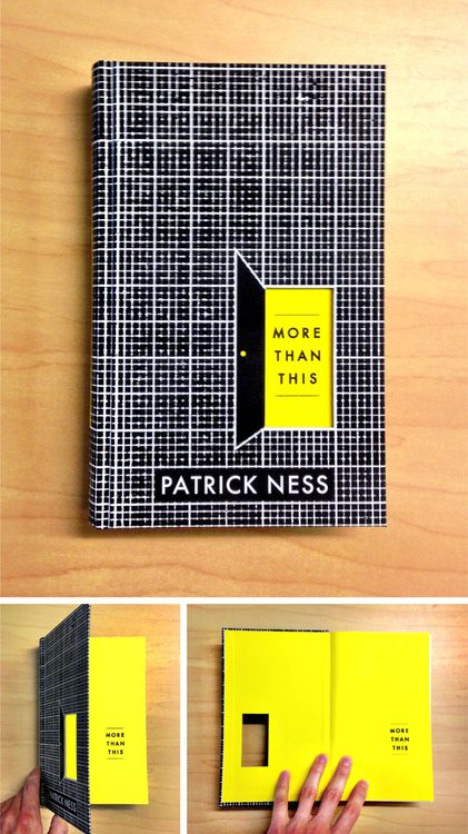 dustjacketlust:  More book design from Matt Roeser.  Pre-order your signed copy of More Than This by @Patrick_Ness from @Books of Wonder now http://bit.ly/127ChzR .