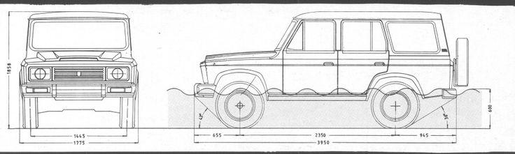 ARO 244 blueprint dimensions