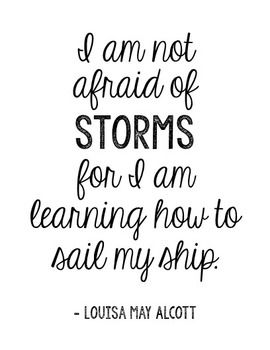 "Louisa May Alcott Encouragement Quote Poster. This is included in the ""Little Women"" Interactive Notebook and Novel Units. Great to make extras and send home with students."