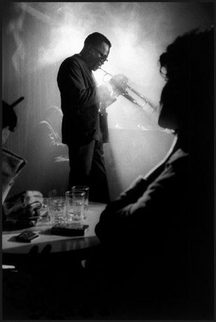 Miles Davis, Birdland, New York City, 1958. © Dennis Stock / Magnum Photos #truenewyork #lovenyc