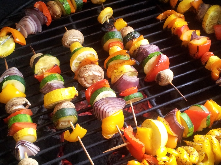 how to cut squash for kabobs