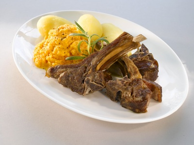 The traditional Norwegian dish Pinnekjøtt. It consist of ribs from lamb, with potatoes and mashed kohlrabi on the side. I grew up west in Norway and here we have this dish multiple times in December. Many eat Pinnekjøtt on Christmas Eve and/or New Years Eve and at social events with the family, with friends or with co-workers around this time of the year.