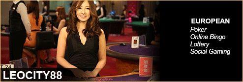 LEOCITY88- Europe (Poker, Online Bingo, Lottery Social Gaming).  Bergabunglah sekarang untuk informasi lebih lanjut dan kredit gratis