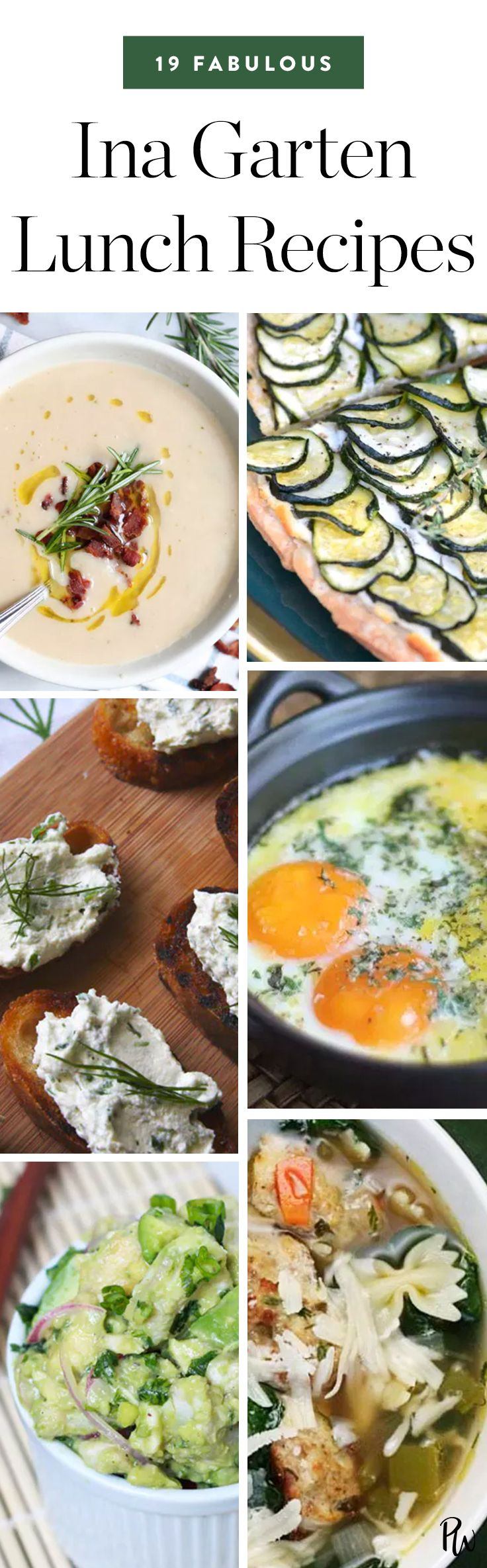 19 Lunch Recipes from Ina Garten That Are Totally Fabulous via @PureWow via @PureWow