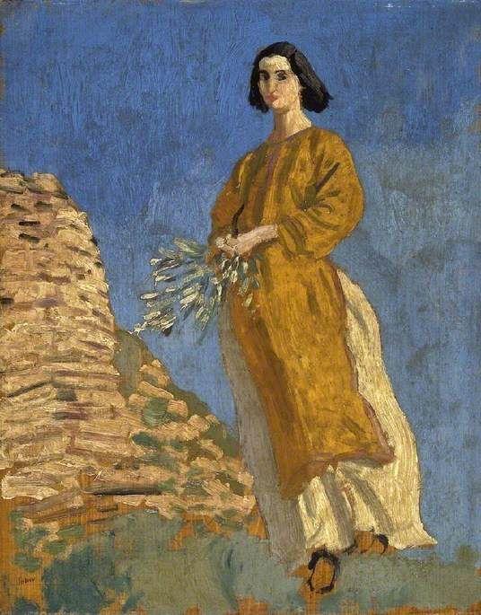 Augustus Edwin John - The Yellow Dress
