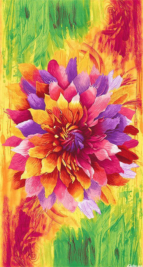 Dream Paintbrush Petals 24 Quot X 44 Quot Panel Quilt