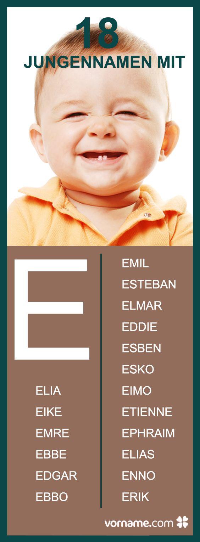 Elia, Eike und Ebbo könnten potenzielle Namen für Dein Baby sein? In unserer Liste erfährst Du, was diese Vornamen bedeuten und woher sie stammen!