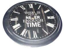 UH51058 Black Never Enough Time Clock 33cm