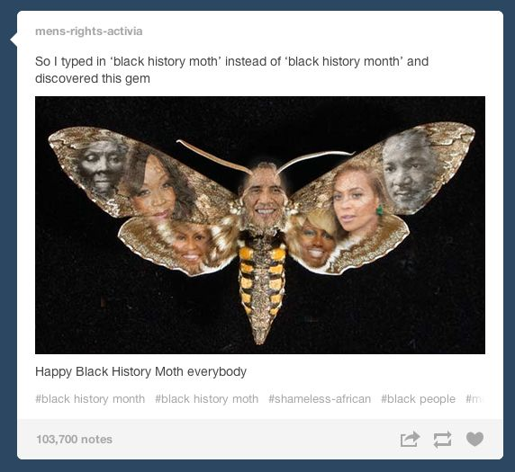 """""""So I typed in 'black history moth' instead of 'black history month' and discovered this gem"""" 