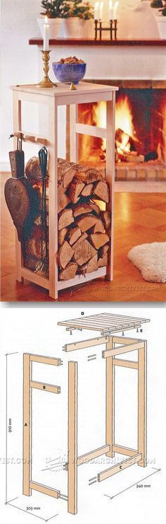 Firewood Rack Plans - Woodworking Plans and Projects | WoodArchivist.com
