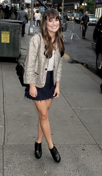 Oh em gee, how cute is Lea Michelle? I want her outfit! #fashion