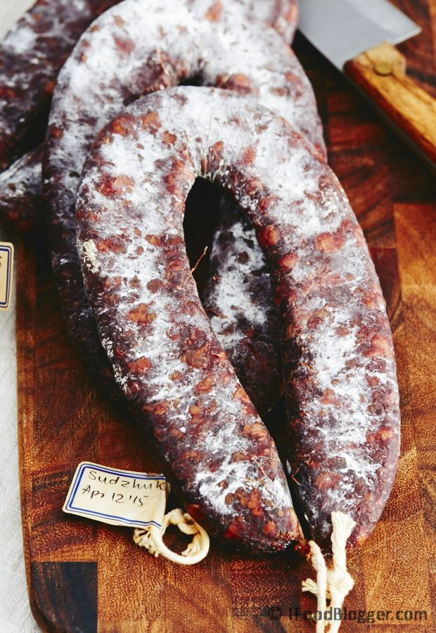 Homemade sujuk - dry cured beef sausage made from scratch - absolutely…