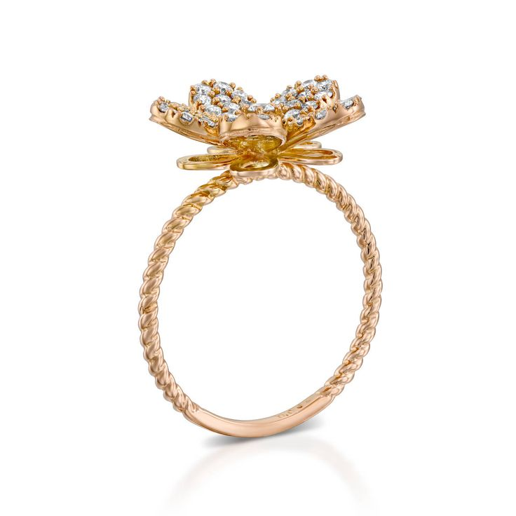 Excited to share the latest addition to my #etsy shop: Blooming Flower Diamond Ring, Flower Diamond Engagement Ring, Flower shaped Ring, Diamond Ring, Yellow Gold Diamond Ring, 18k gold ring, http://etsy.me/2AMDDsl #jewelry #ring #gold #no #yes #women #white #diamond #round
