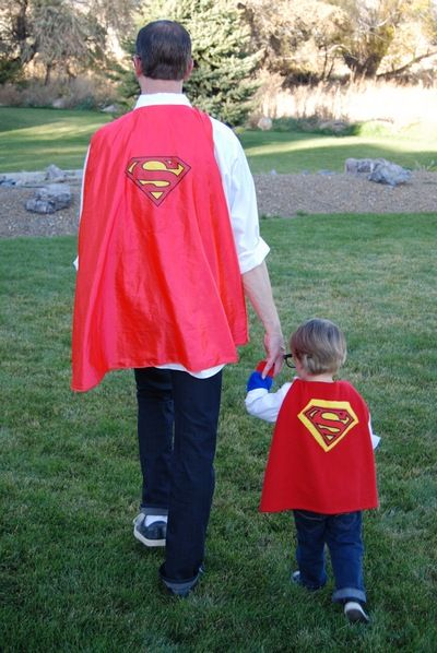 """Super Dad Father's day idea - so stinkin' cute!  Link to free printables as well for """"you are my hero because..."""" cards."""
