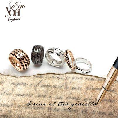 Anelli elegance in argento 925°° con incisione personalizzabile